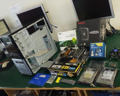 Custom build desktop PC. Before.